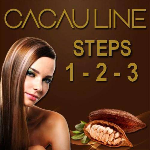 BRAZILIAN KERATIN BRASIL CACAU  3 STEPS TREATMENT 250ml (8.4oz) FRACTIONAL SALE KIT.. - Keratinbeauty