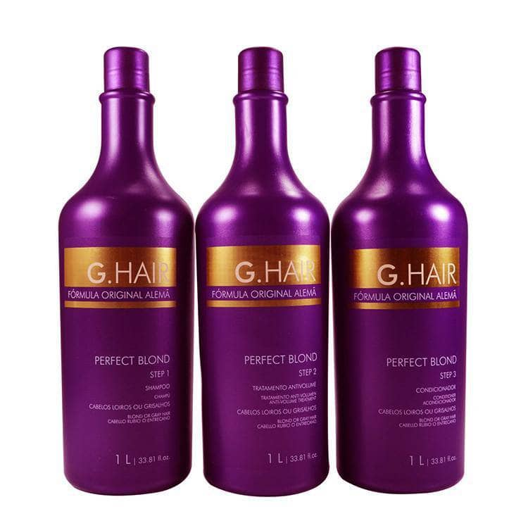 INOAR GERMAN FORMULA KERATIN G HAIR PERFECT BLOND TREATMENT 33,81oz. (1L) KIT - Keratinbeauty