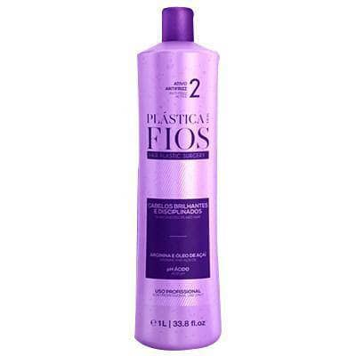 BRAZILIAN KERATIN  PLASTICA DOS FIOS SINGLE BOTTLE STEP 2  1000ml (34oz) . - Keratinbeauty