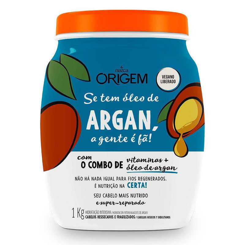 Nazca Origem Argan Oil Vegan Hair Hydrating Mask 1KG - Keratinbeauty