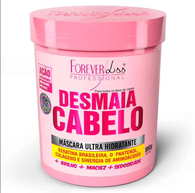 Ultra Hydrating Mask Desmaia Cabelo - Forever Liss 950g - Keratinbeauty