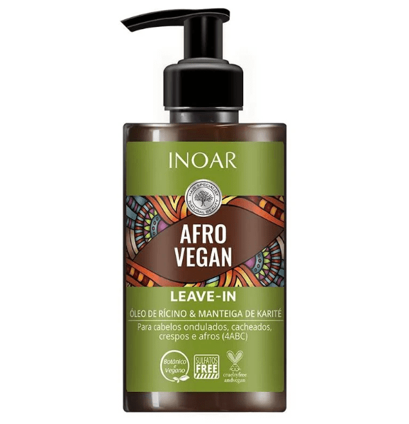 Inoar Afro Vegan - Leave in 300ml - Keratinbeauty