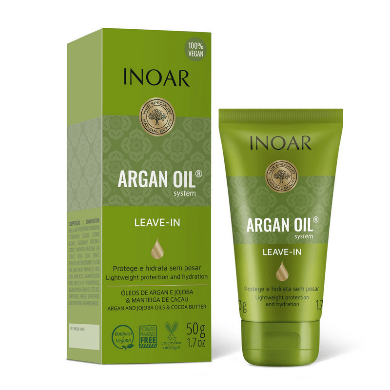 Inoar Argan Oil System Leave In 50g - Keratinbeauty