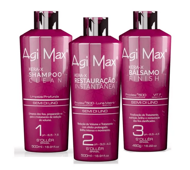 Agi Max Red Brazilian Keratin Kera-x Soller Treatment 3 X 500ml 3,0 fl.oz - Keratinbeauty
