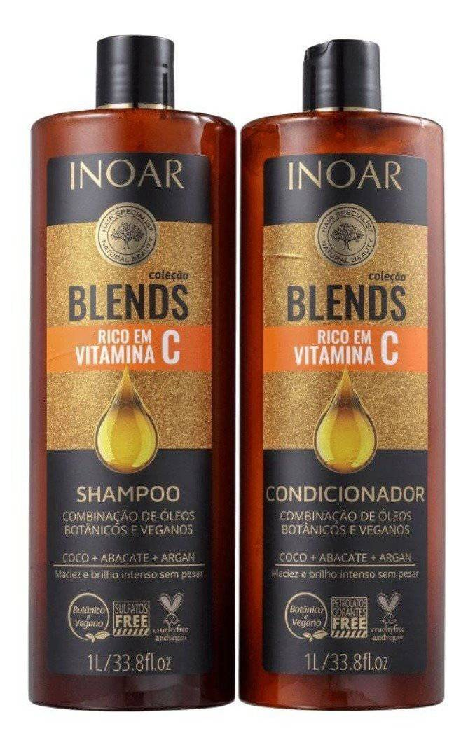 Inoar Blends Collection Vegan Shampoo And Conditioner 1000ml - Keratinbeauty