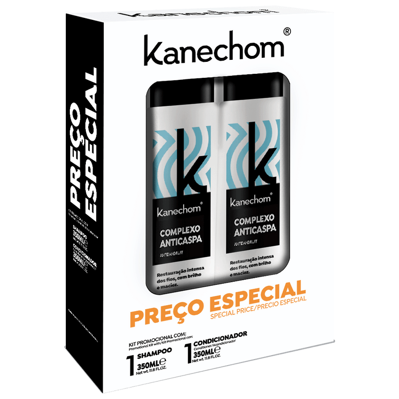 Kanechom Anti-Dandruff Kit Shampoo and Conditioner 350ml - Keratinbeauty
