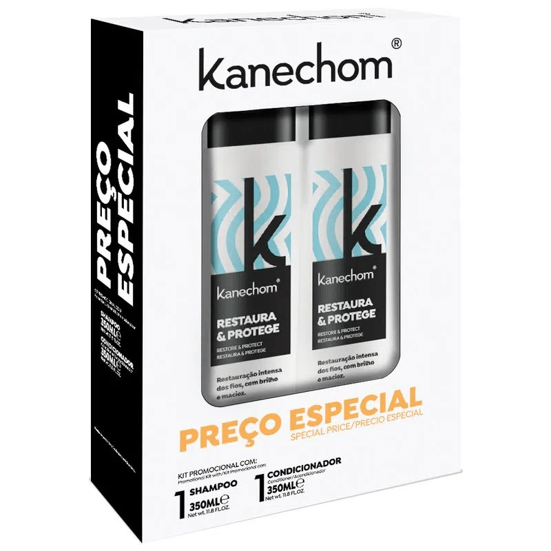 Kanechom Restaura E Protege Kit Shampoo & Conditioner 350ml - Keratinbeauty
