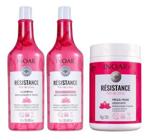 Kit Inoar Resistance Flor de Lotus 3 x 1000ml