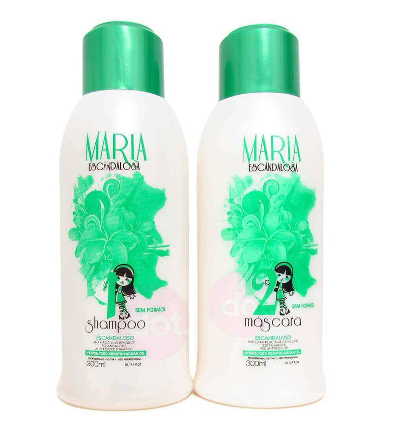 Maria Escandalosa Organic Hair Smoothing Kit 2 x 300ml - Keratinbeauty