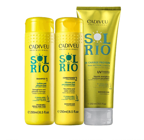 SOL DO RIO HAIR UV PROTECTION DAILY USE KIT 3 X 250ml