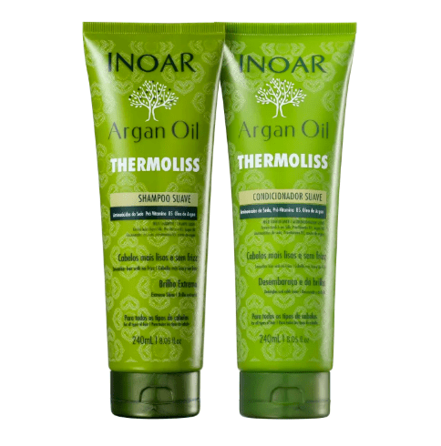 Inoar Argan Oil Thermoliss Soft Shampoo and Conditioner Kit 240ml - Keratinbeauty