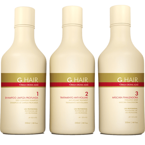 G HAIR GERMAN HAIR SMOOTHING KIT 3 x 250ml/8.5fl.oz.