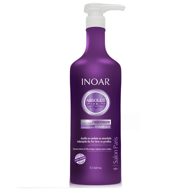 Inoar Absolut Speed Blond Conditioner 1000ml/ 33.81fl.oz - Keratinbeauty