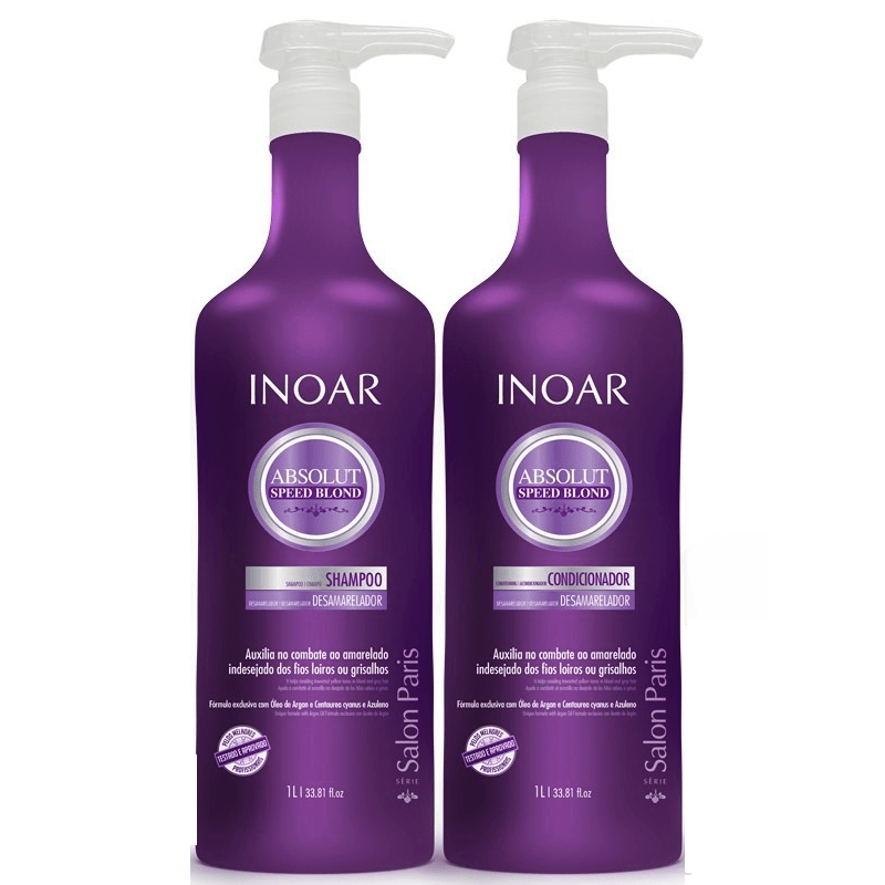 Inoar Absolut Speed Blond Home Care Kit 1000ml/ 33.81fl.oz - Keratinbeauty
