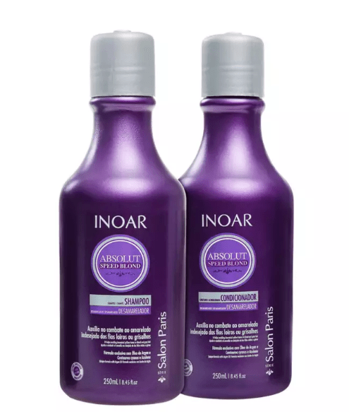 Inoar Absolut Speed Blond Home Care Kit 250ml/ 8.45fl.oz - Keratinbeauty