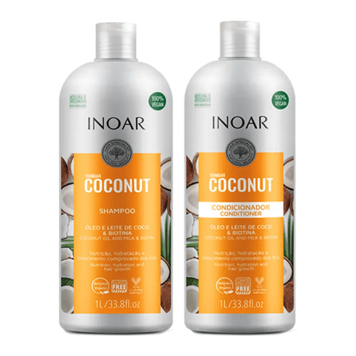 Kit Inoar Bombar Coconut 1000ml (33fl.oz) - Keratinbeauty