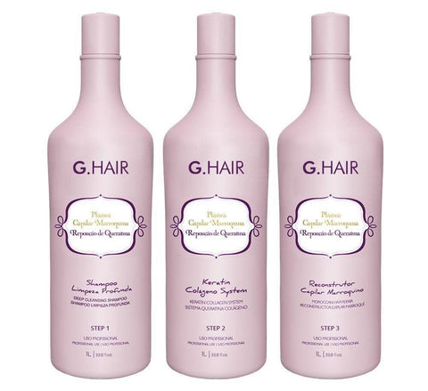 G Hair Plastica Capilar Boto Hair Moroccan Keratin Treatment  3 X 1000ml