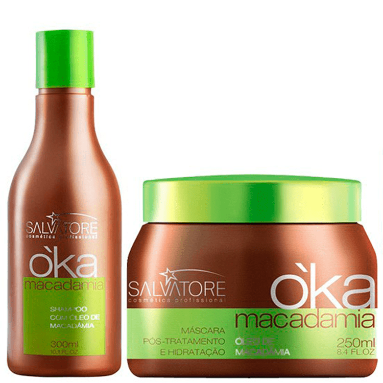 SALVATORE OKA MACADAMIA  AND OJON HAIR HYDRATING TREATMENT KIT 300ml / 10,13fl.oz. - Keratinbeauty