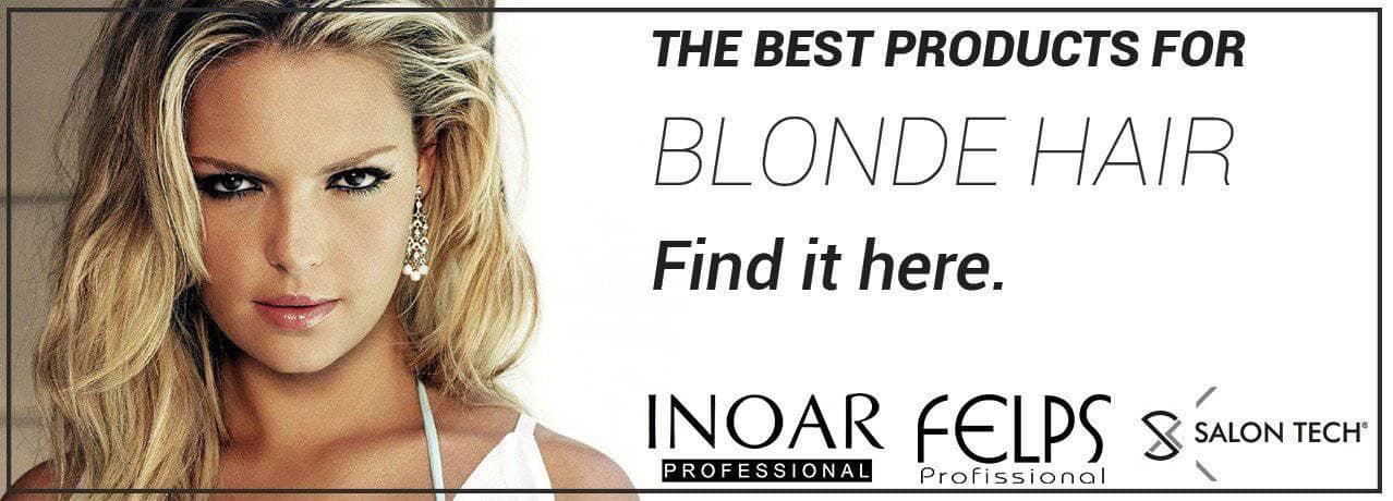 Blonde hair care products