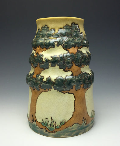 A Craftsman-Influenced Three Trees Vase | Taira Wiggins | Sweet Earth Pottery