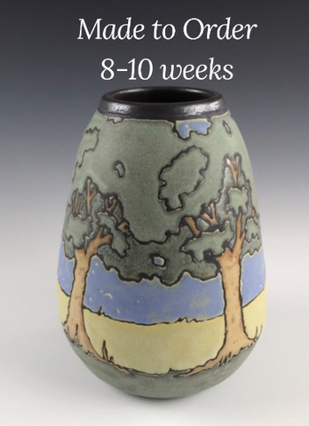 Made to Order | Large Newcomb Style Oaks | Craftsman Pottery | SEG Style| Taira Wiggins | Sweet Earth Pottery