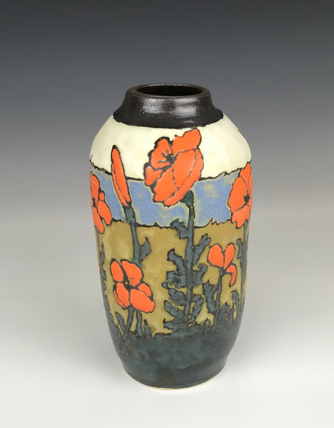 Poppy Vase | Contemporary Arts & Crafts Mission SEG Style | Craftsman | Taira Wiggins | Sweet Earth Pottery