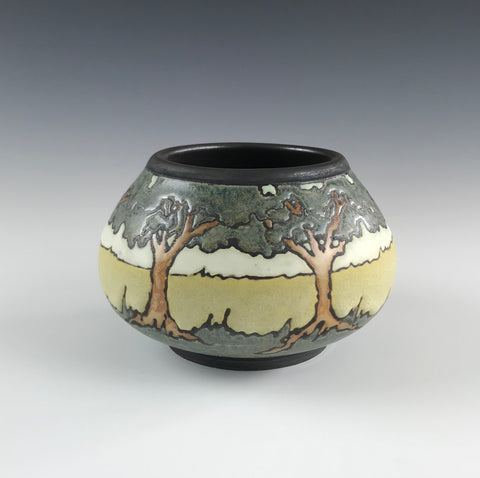 A Circle of Oaks (Small) | SEG Newcomb Style | Taira Wiggins | Sweet Earth Pottery