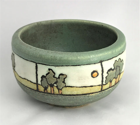 A Panel of Trees on Matte Green | Taira Wiggins | Sweet Earth Pottery