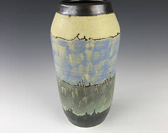 SOLD | Pine with Grey Rocks | Contemporary Arts & Crafts Mission SEG Style | Craftsman | Taira Wiggins | Sweet Earth Pottery