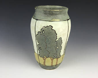 SOLD | Filmstrip Trees (Tall) | Contemporary Arts & Crafts Mission SEG Style | Craftsman | Taira Wiggins | Sweet Earth Pottery