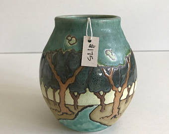 SOLD Stream Through the Trees | Contemporary Arts & Crafts Mission SEG Style | Craftsman | Taira Wiggins | Sweet Earth Pottery