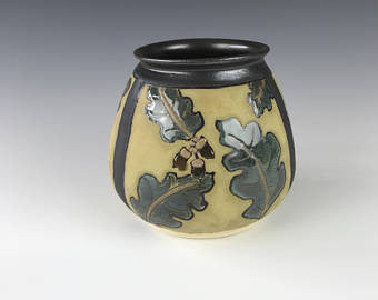 Acorns and Oak Leaves | Contemporary Arts & Crafts Mission SEG Style | Craftsman | Taira Wiggins | Sweet Earth Pottery