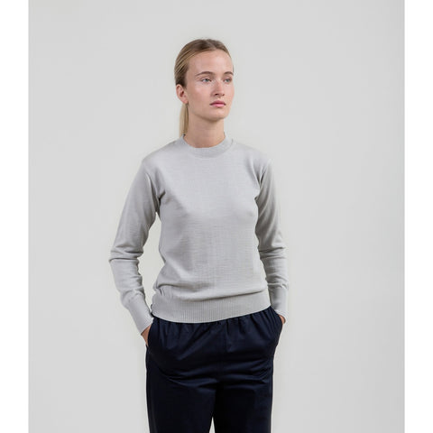 The Essential Merino Crewneck - Ash Grey