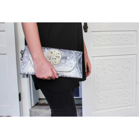 Envelope Clutch Leather w'Jade