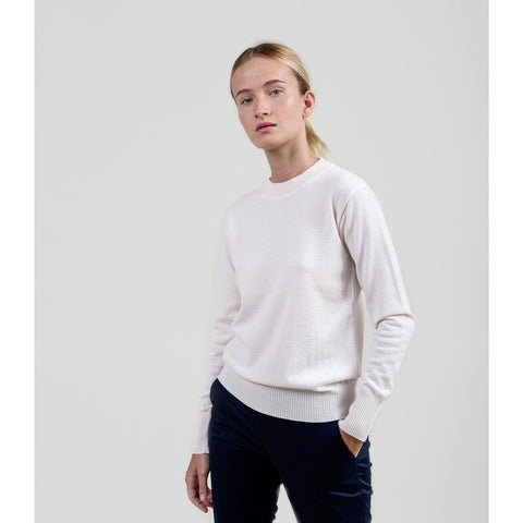 The Essential Merino Crewneck - Cream