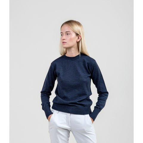 The Essential Merino Crewneck - Navy