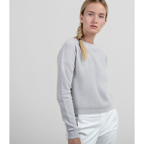 Soft Honeycomb Boatneck - Grey