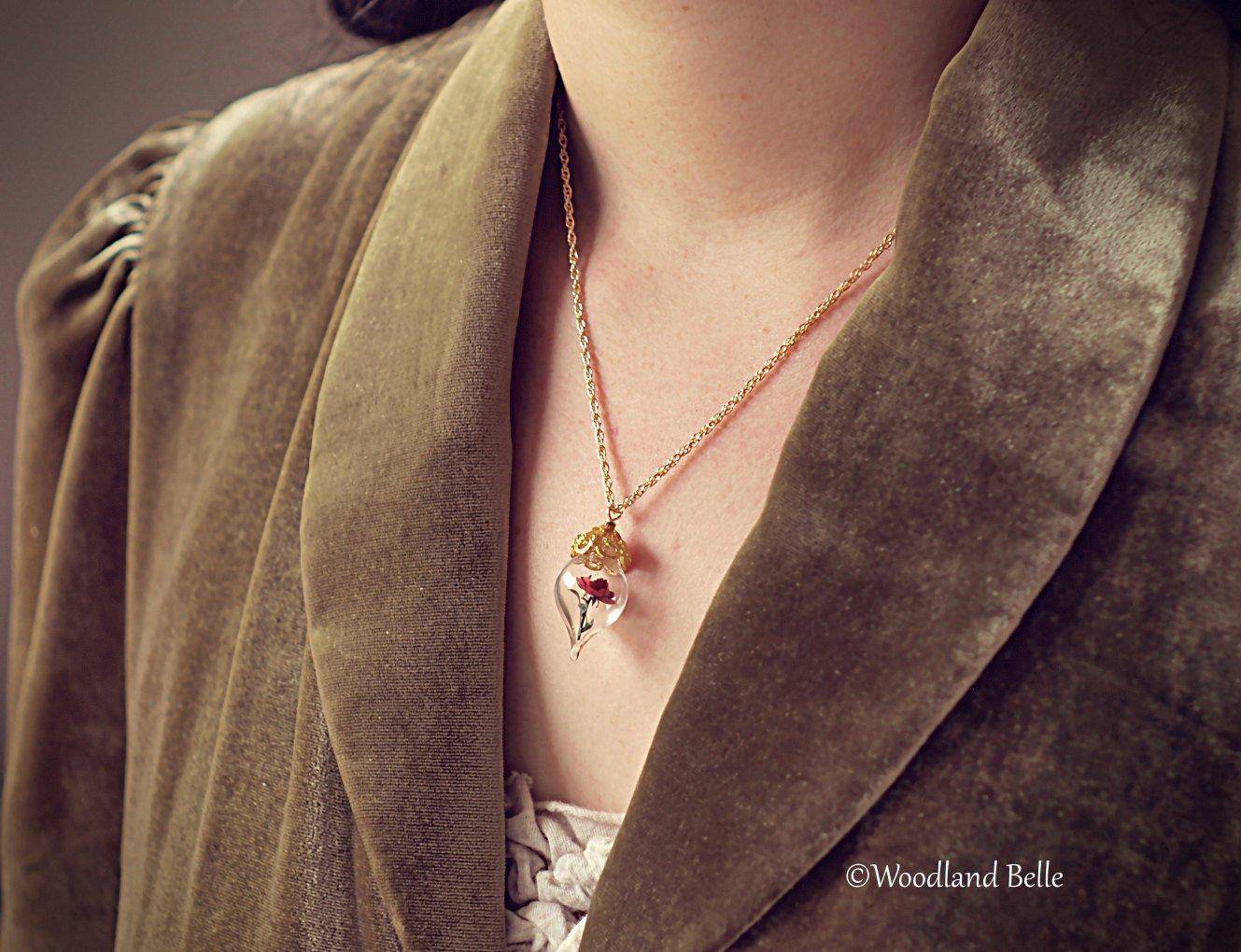 Gold Daffodil Necklace - Yellow Daffodil Flower Glass Pendant - Gold, Sterling Silver, or Rose Gold - Personalized Gift - by Woodland Belle