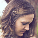 Load image into Gallery viewer, Rustic Branch Hair Pins - Twig Hair Clips - Branch Bobby Pins - Twig Hair Pins - Bella Rustica Antique Bronze by Woodland Belle