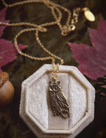 Load image into Gallery viewer, Sterling Silver Owl Necklace - Great Horned Owl Pendant - Recycled Silver - Small, Dainty Bird Necklace - Owl Lover Gift - by Woodland Belle
