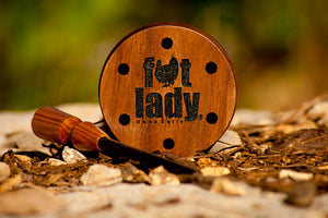 Fat Lady Game Calls - Turkey Call - Walnut Pot Call and Striker