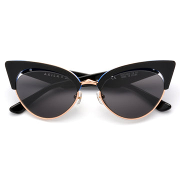 Akila x Love Made Cat Eye Sunglasses - Black