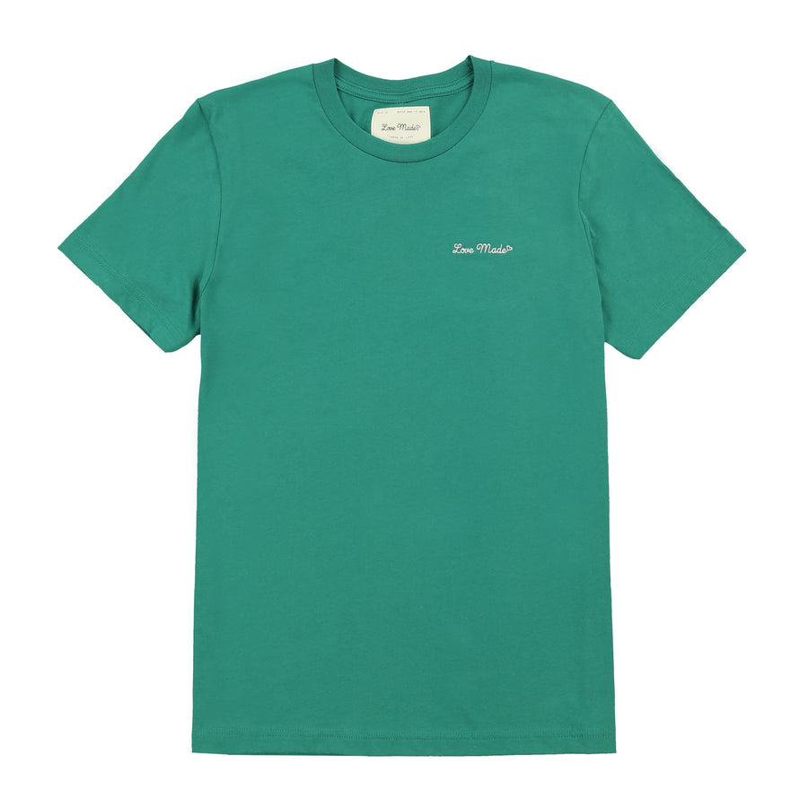 Love Made Stitch Tee - Emerald