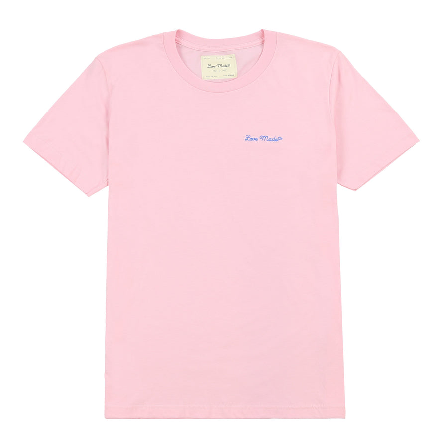 Love Made Stitch Tee - Blush Pink