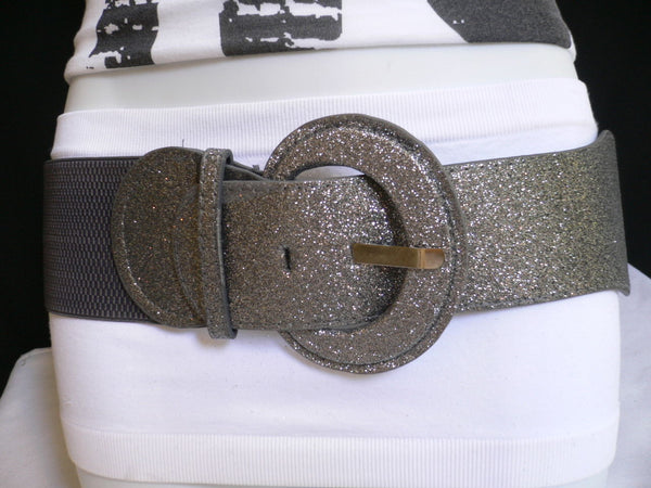 Gray / Dark Gray / Black / Gold / Brown / Brown Bronze / Red Elastic Hip Waist Sparkling Belt New Women Fashion Accessories XS To XL - alwaystyle4you - 35