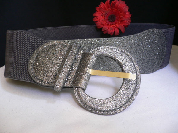 Gray / Dark Gray / Black / Gold / Brown / Brown Bronze / Red Elastic Hip Waist Sparkling Belt New Women Fashion Accessories XS To XL - alwaystyle4you - 30