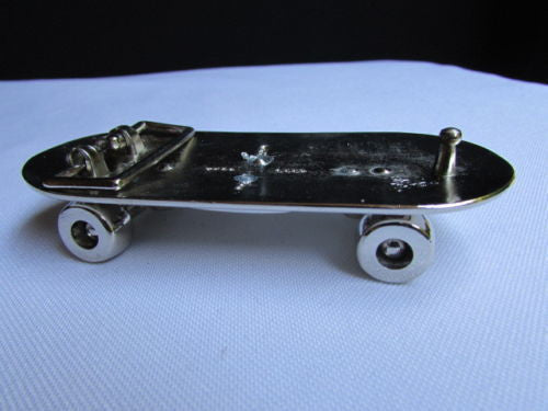 Big Silver Metal Large Skateboard Punk Fashion Belt Buckle Cross - alwaystyle4you - 1