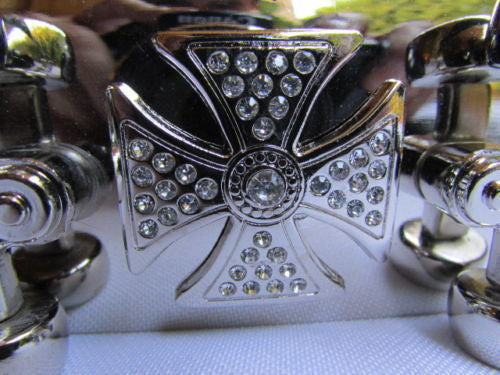 Big Silver Metal Large Skateboard Punk Fashion Belt Buckle Cross - alwaystyle4you - 6