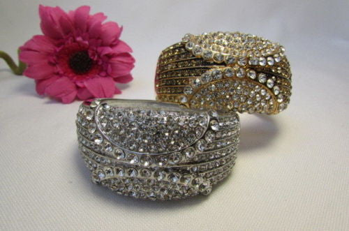Gold / Silver Metal Retro Bracelet Cuff Multi Rhinestones New Women Fashion Jewelry Accessories - alwaystyle4you - 10