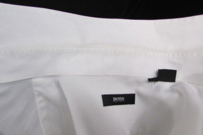 Hugo Boss Men White Button Down Dress Shirt Long Sleeves Classic Large 16 34-35 - alwaystyle4you - 8
